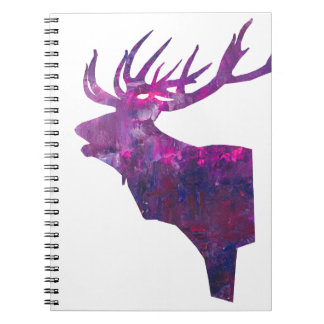 Deer head stag in lilac notebooks