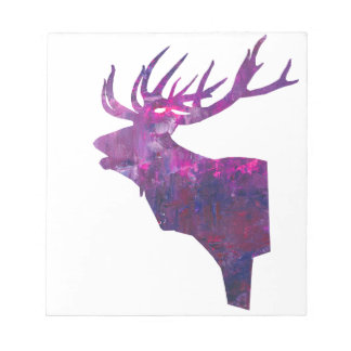 Deer head stag in lilac notepad