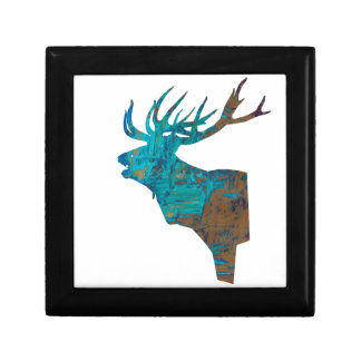 deer head stag in turqouis and brown gift box