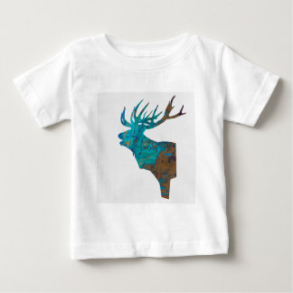 deer head stag in turquois baby T-Shirt