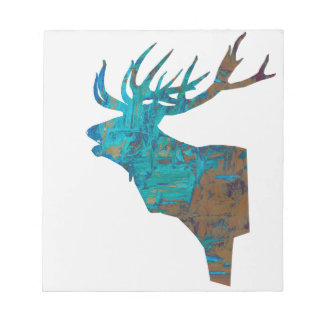 deer head stag in turquois notepad