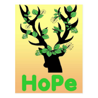 Deer horn Hope quotes Postcard