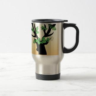 Deer horn Hope quotes Travel Mug