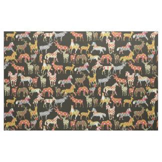 deer horse ikat party fabric