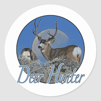 Deer Hunter Classic Round Sticker