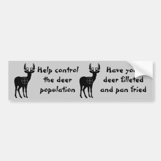 Deer Hunting Bumper Sticker