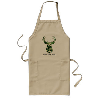 Deer Hunting Camo Buck Long Apron