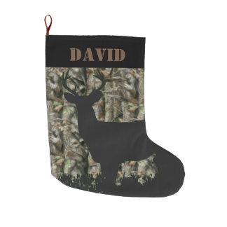 Deer Hunting Camo Christmas Stocking