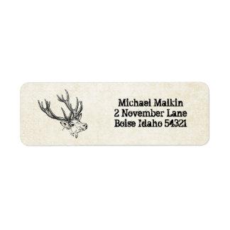 Deer Hunting Custom Personalized Return Address Label