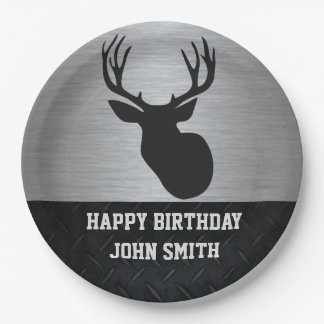 Deer Hunting Happy Birthday Name Plates