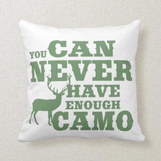 Deer Hunting Humor Camouflage Throw Pillow