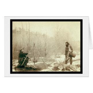Deer Hunting in Deadwood South Dakota 1887 Card
