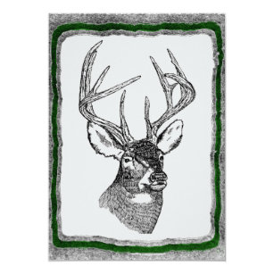 Deer Hunting invitation template