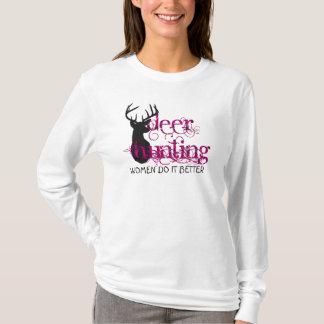 Deer Hunting Ladies T-Shirt