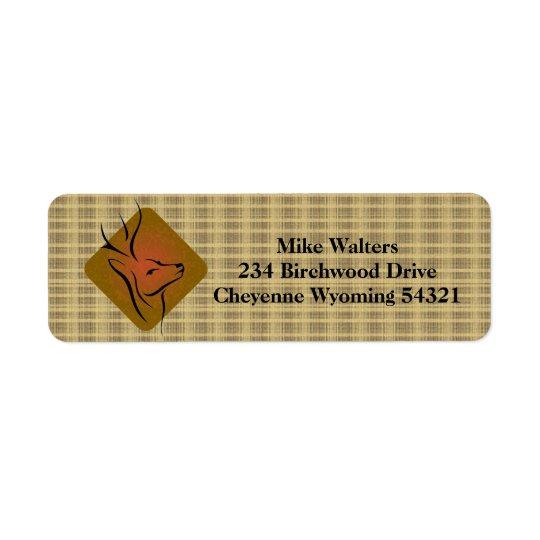 Deer Hunting Logo Return Address Label