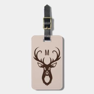 Deer Illustration custom text luggage tag