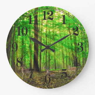 Deer image for Round (Large) Wall Clock