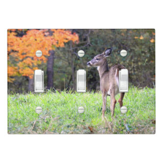 Deer in a Field -Autumn day Light Switch Cover