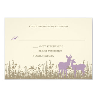 Deer in a Field Wedding Invitation