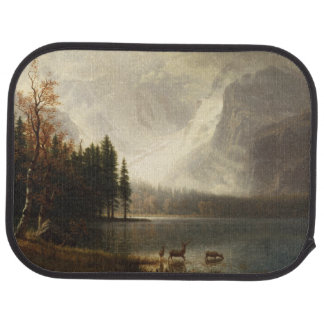 Deer In Lake With Snow Mountains Scene Car Liners