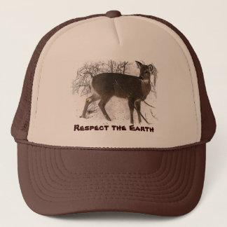 Deer in Snow - Earth Day Trucker Hat