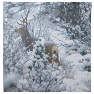 Deer in Snow Napkins