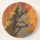 Deer in the Autumn Woods Coaster