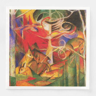 Deer in the Forest by Franz Marc Disposable Napkin
