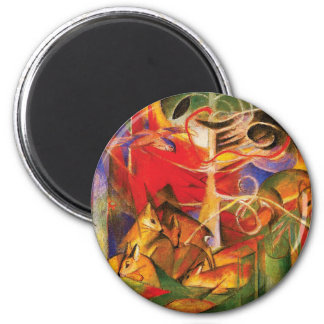 Deer in the Forest by Franz Marc Magnet