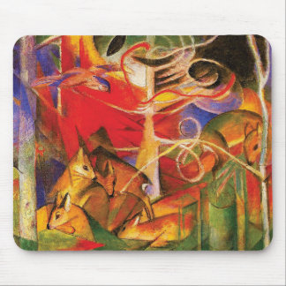 Deer in the Forest by Franz Marc Mouse Pad