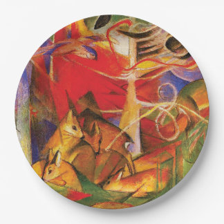 Deer in the Forest by Franz Marc Paper Plate