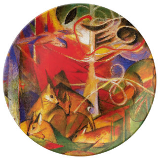 Deer in the Forest by Franz Marc Plate