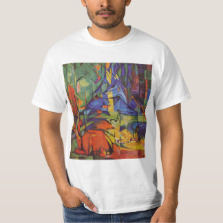Deer in the Forest II by Franz Marc, Vintage Art T-Shirt