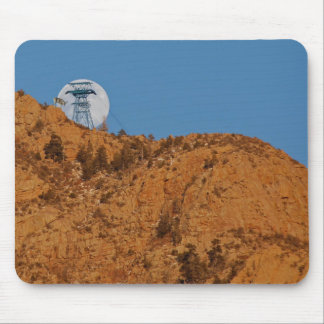 DEER IN THE FULL MOON MOUSE PAD