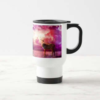 Deer In the Pink Clouds Mug