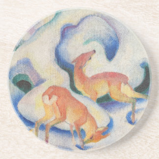 Deer in the Snow by Franz Marc Coaster
