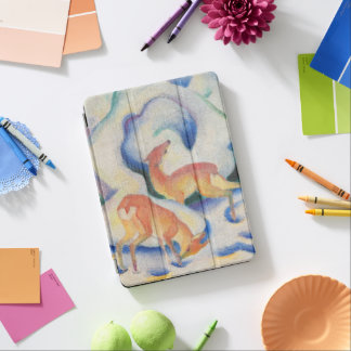 Deer in the Snow by Franz Marc iPad Pro Cover