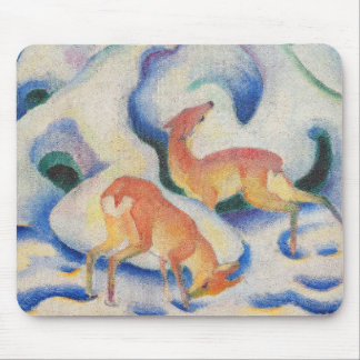 Deer in the Snow by Franz Marc Mouse Pad