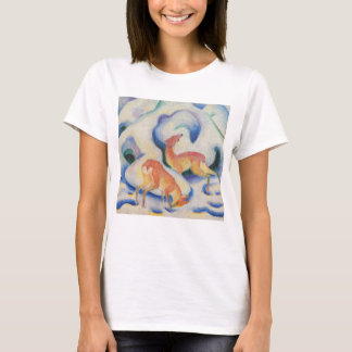 Deer in the Snow by Franz Marc T-Shirt