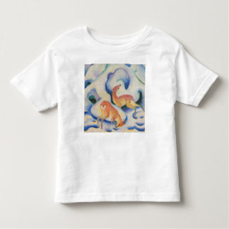 Deer in the Snow by Franz Marc Toddler T-shirt