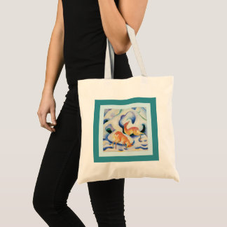 Deer in the Snow by Franz Marc Tote Bag