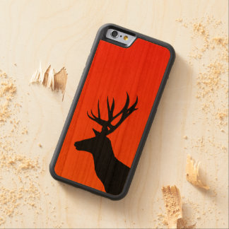 Deer in The Sunset Carved Cherry iPhone 6 Bumper Case