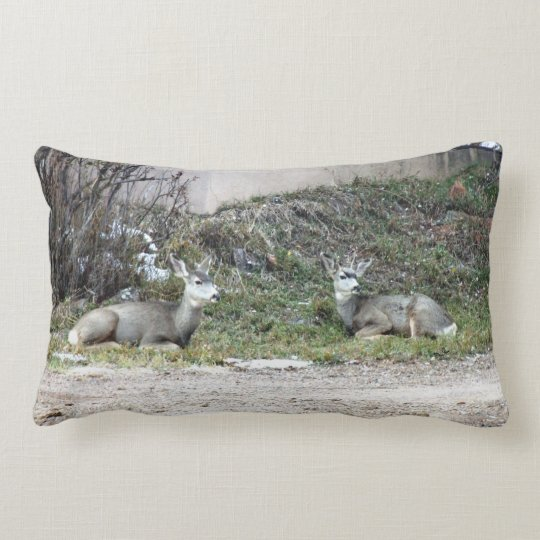 Deer in the Wild Lumbar Pillow