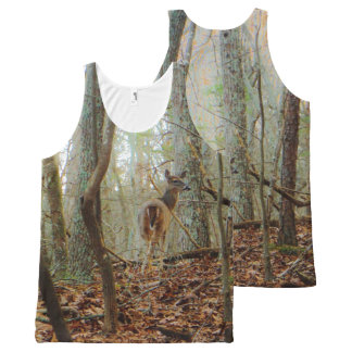 Deer in the wood. Camo Camouflage All-Over-Print Tank Top