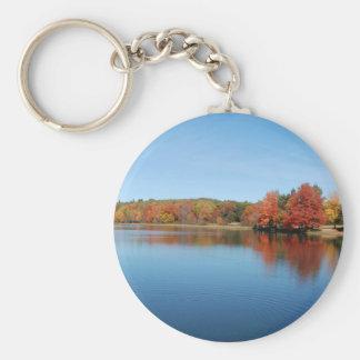 Deer Lake Basic Round Button Keychain