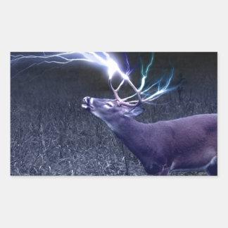 Deer Lightning Sticker