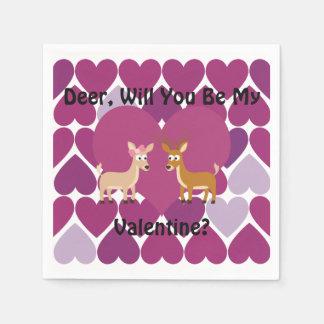 Deer Love Paper Napkin