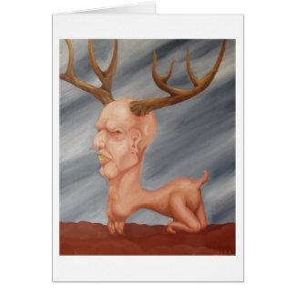 Deer man... card