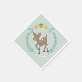 Deer Modern Girl Baby Shower Napkins Disposable Napkin