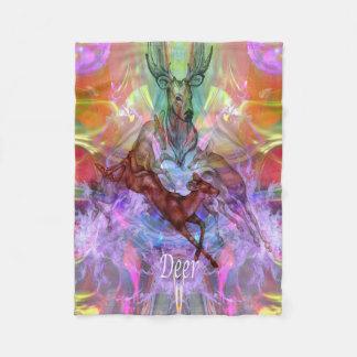 Deer Moon Fleece Blanket